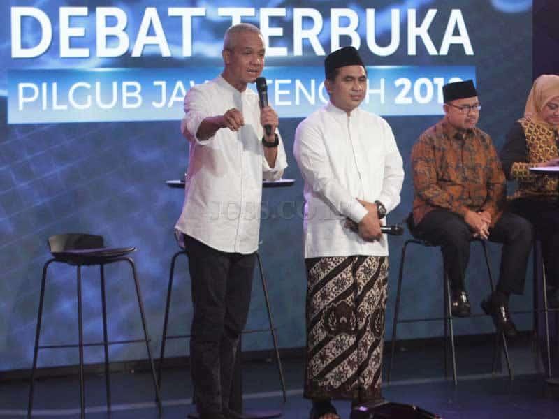 Saling Serang Dominasi Debat Terbuka Pilkada Jateng 2018