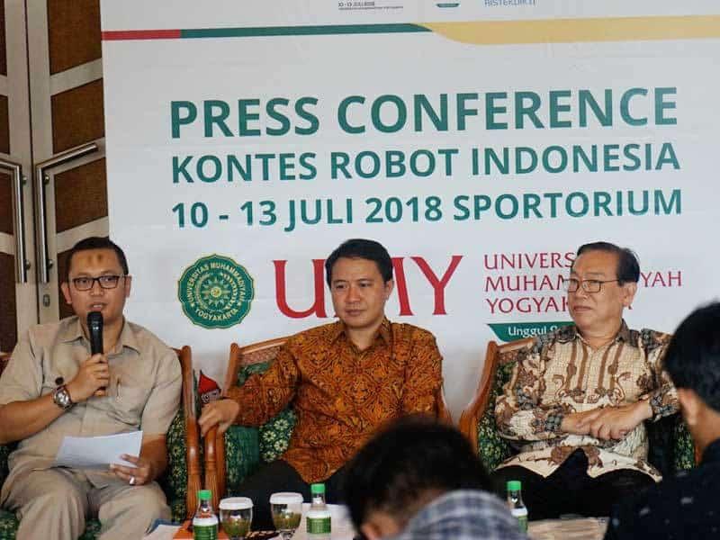 91 Tim Siap Berkompetisi Dalam Kontes Robot Indonesia 2018