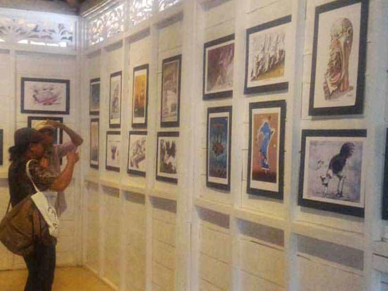 Ratusan Karya Kartunis Dunia Dipamerkan di Borobudur