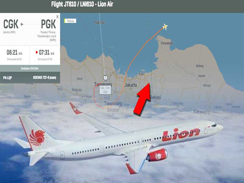 kronologi jatuhnya Lion Air