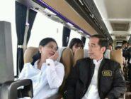 Jokowi Jajal Tol Trans Jawa Gunakan Bus DAMRI Super Eksekutif