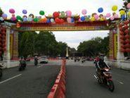 Kawasan Pasar Gede Solo Meriah Dengan 5.000 Lampion