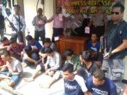 7 dari 19 Anggota Semarang Gengster 69 Ditetapkan Sebagai Tersangka