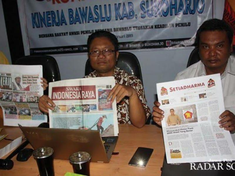 Tiga Tabloid Bodong Beredar Di Sukoharjo Jelang Pemilu