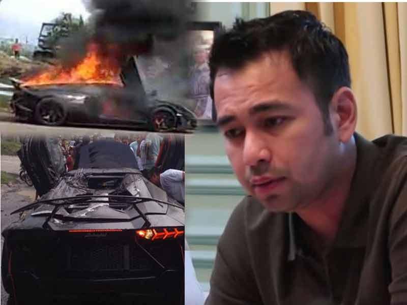 Mobil Lamborghini Raffi Ahmad Mendadak Terbakar, Kok Bisa?