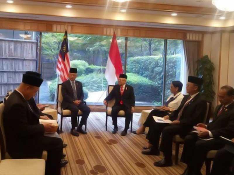 Bertemu Raja Malaysia, Ma'ruf Amin Bahas Perlindungan TKI