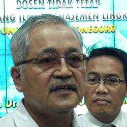 Besok, Prof Sri Puryono Dikukuhkan Sebagai Guru Besar Ilmu Manajemen Lingkungan Undip