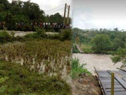 Puluhan Remaja Tengah Asik Nongkrong Saat Jembatan Gantung di Bengkulu Putus