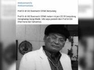 Dokter Soemantri Hardjojuwono Berpulang, Peristirahatan Terakhir di Pemakaman Undip Tembalang