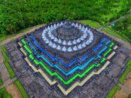 Meski Dibungkus Terpaulin, Kuota Pengunjung Candi Borobudur Naik Jadi 4.000 Orang/Hari