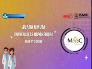 Undip Juara Umum MOC 2020 dengan Meraih 3 Medali Emas dan 2 Medali Perak